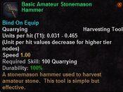 Basic amateur stonemason hammer
