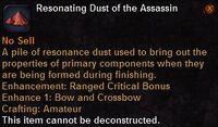 Resonating dust the assassin