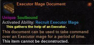 Executor mage document
