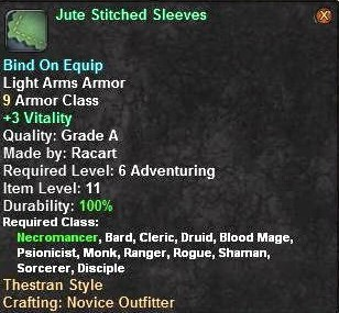 Jute Stitched Sleeves