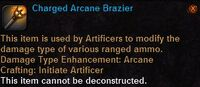 Charged arcane brazier