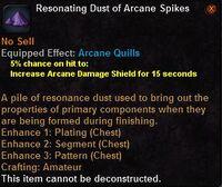 Resonating dust arcane spikes