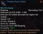 Pristine pyrite sickle