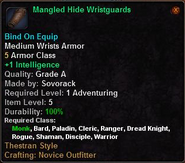 Mangled Hide Wristguards