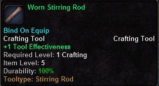 Worn Stirring Rod