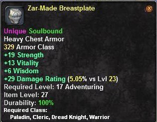 Zar-Made Breastplate