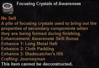 Focusing crystal awareness