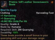 Pristine stiff leather stonemason's boots