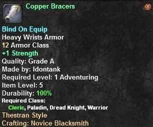 Copper Bracers