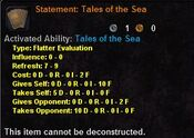 Statement Tales of the Sea