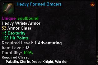 Heavy Formed Bracers