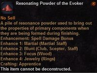 Resonating powder the evoker