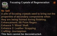 Focusing crystal regeneration