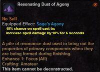 Resonating dust agony