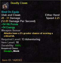 Deadly Claws
