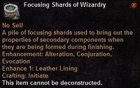 Focusing shard wizardry