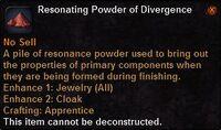 Resonating powder divergence