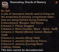 Resonating shards mastery