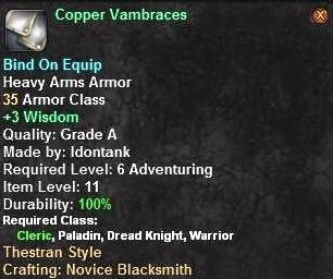 Copper Vambraces