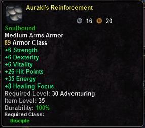 Auraki's Reinforcement