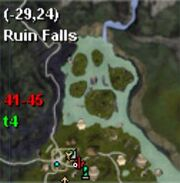Map thestra ruin falls