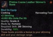 Pristine coarse leather skinner's boots