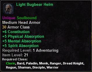 Light Bugbear Helm