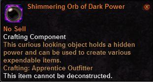 Shimmering Orb of Dark Power