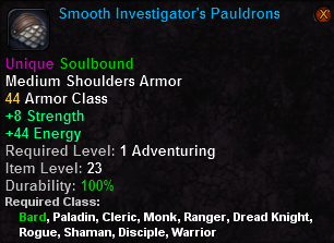 Smooth Investigator's Pauldrons