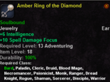 Amber Ring of the Diamond