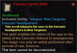 Executor Egress Spell