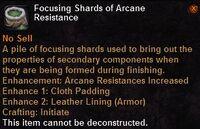 Focusing shard arcane resistance