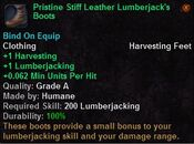 Pristine stiff leather lumberjack's boots