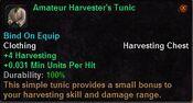 Amateur harvester's tunic