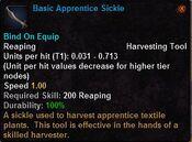 Basic apprentice sickle
