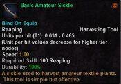 Basic amateur sickle