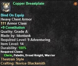 Copper Breastplate