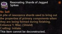 Resonating shards jagged spikes