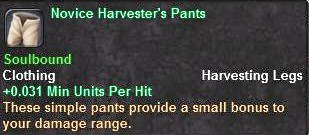 Novice Harvester's Pants