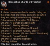 Resonating shards evocation