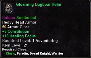 Gleaming Bugbear Helm