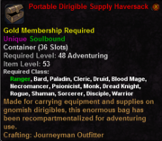 Portable Dirigible Supply Haversack