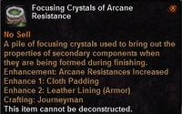 Focusing crystal arcane resistance