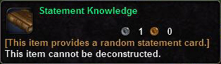 Statement Knowledge