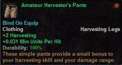 Amateur harvester's pants