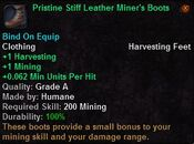 Pristine stiff leather miner's boots