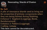 Resonating shards elusion