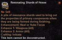 Resonating shards hexes