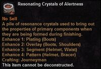 Resonating crystals alertness