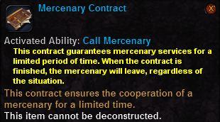 Mercenary contract